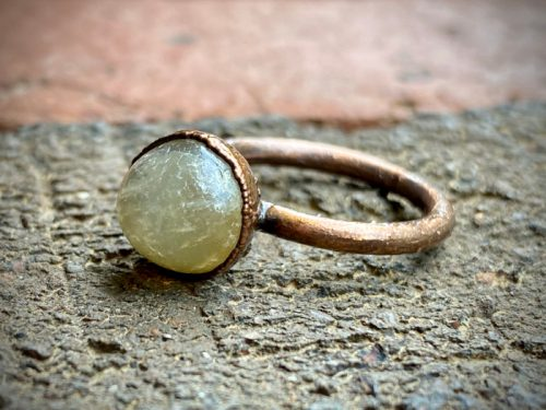 Citrine Crystal Ball Ring 02